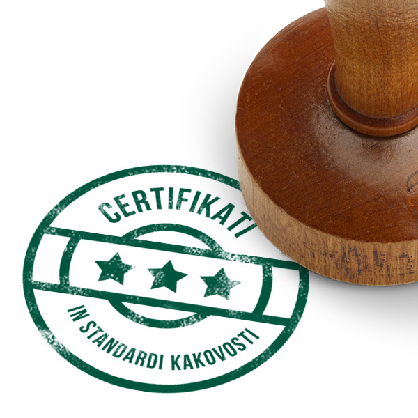 Certifikati in standardi kakovosti